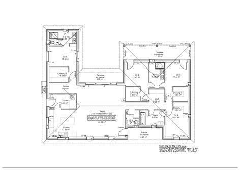 Plan Maison Plain Pied Moderne 28 Images Maison De plan maison moderne 160m2 28 images besoin de votre