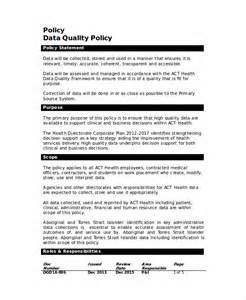 it policy document template quality policy template 8 free word pdf documents