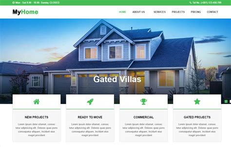 Real Estate Website Html Template Free Download Realtor Website Design Templates