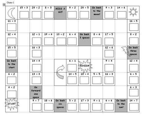 printable division games ks1 mental maths games ks2 printable division board game ks2