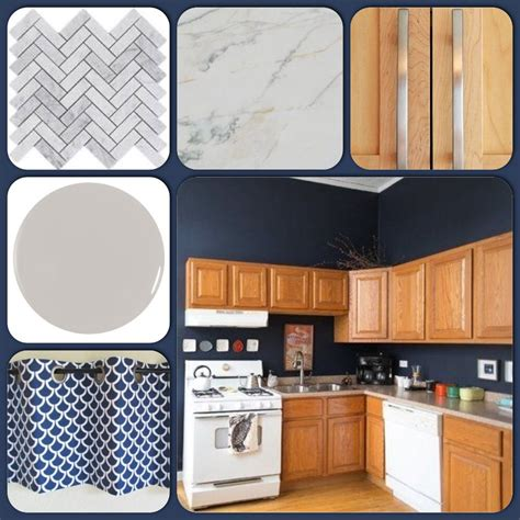 navy blue cabinet paint kitchen inspiration honey oak cabinets and hale navy blue