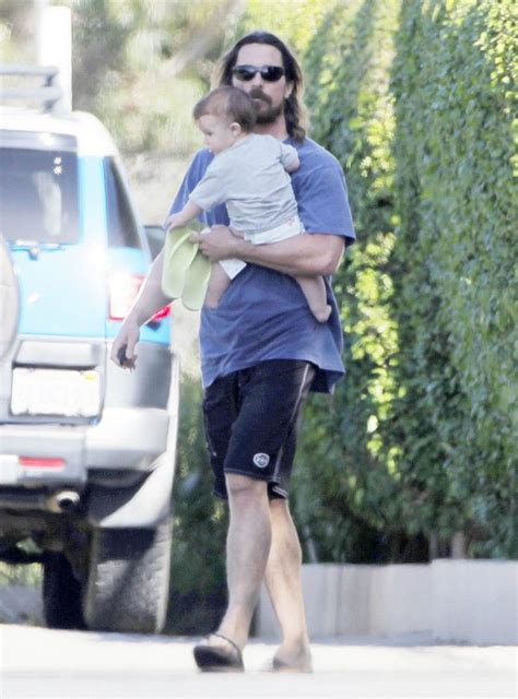 christian bale house christian bale steps out with 6 month old son baby s name still a mystery celeb baby laundry