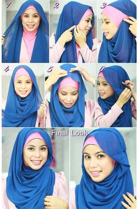 tutorial hijab pashmina lecek cara memakai jilbab pashmina modern dewikerudung com