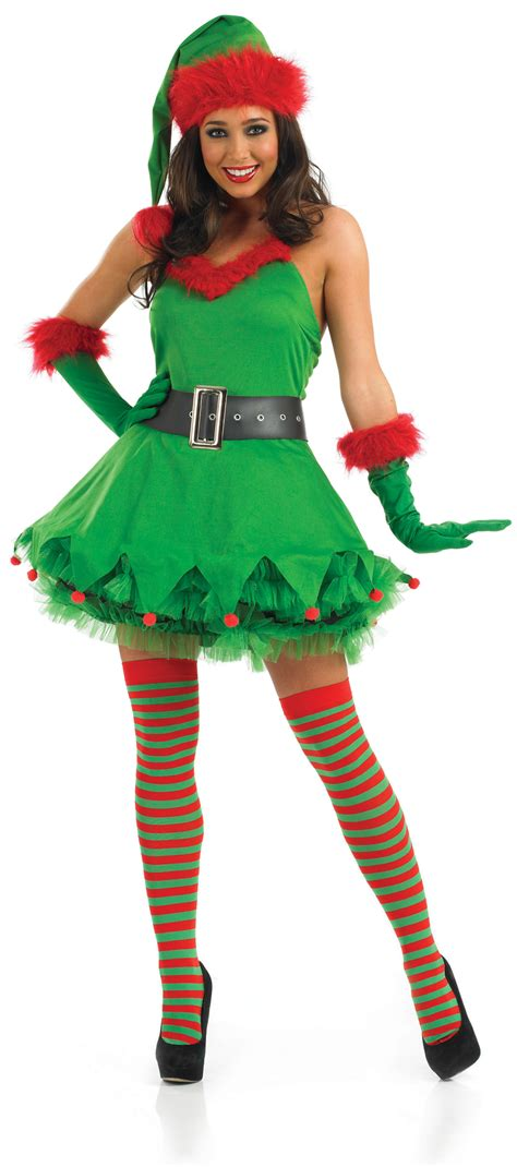 deluxe sexy elf ladies santas little helper christmas