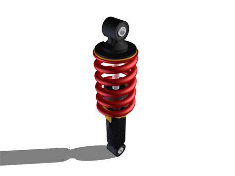 Shockbreaker Yss Nsr Honda Nsr 150r Mono Shock Breaker Step Iges 3d Cad