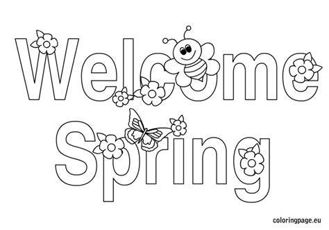 templates for welcome pages welcome sign page coloring pages
