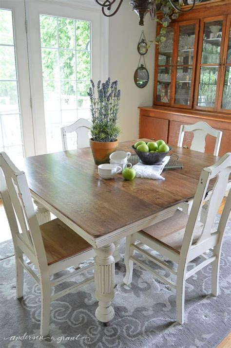 Chalk Paint Dining Room Table Antique Dining Table Updated With Chalk Paint Posts Colors And Dining Table Chairs