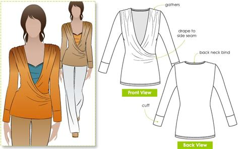 sewing pattern wrap top ronnie wrap top sewing pattern dressmaking sewing