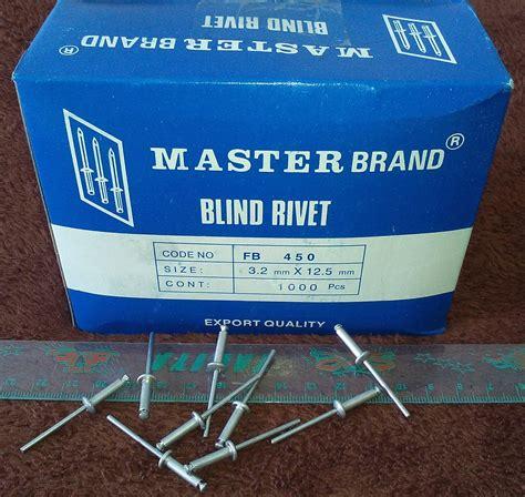 Paku Rivet 3 2mm X 9 5mm jual paku rivet blind rivet fb 450 harga untuk 50pcs