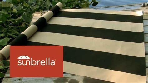 sunbrella awning stripe fabric video of sunbrella manhattan classic awning stripe fabric 4789 0000 youtube