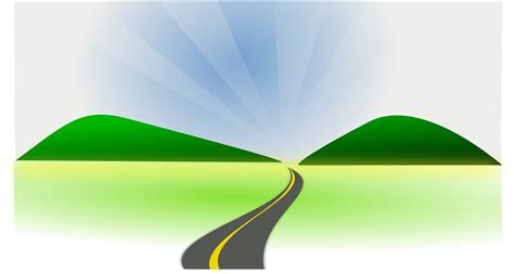 graphic design hill road greenery highway drive 183 free vector graphic on pixabay