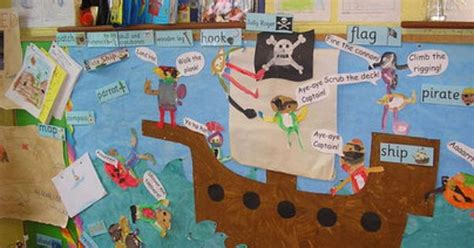 flags of the world early years pirate ship display classroom display class display