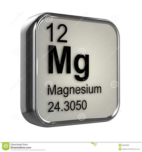 what is magnesium on the periodic table 3d magnesium element stock illustration illustration of