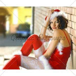 Woman wearing santa claus clothes 183 gl stock images