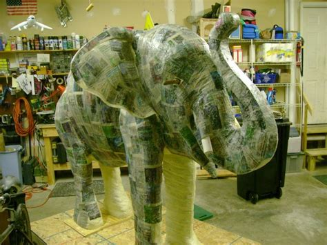 How To Make Paper Mache Elephant - how to make a baby elephant with paper mache ultimate