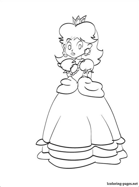 princess daisy coloring pages coloring pages