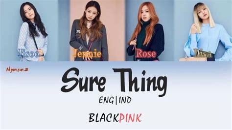 blackpink sure thing mp3 lirik eng ind blackpink sure thing cover color coded