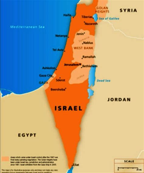 map of isreal israeli territory the map march 20 2013 end times research ministry