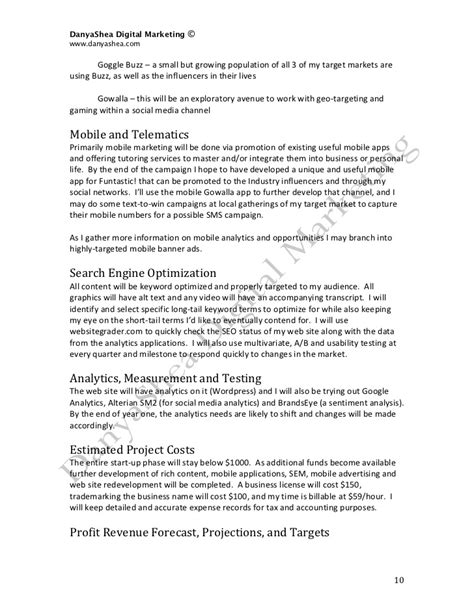 Social Media Marketing Plan Sample Promotion Agreement Template