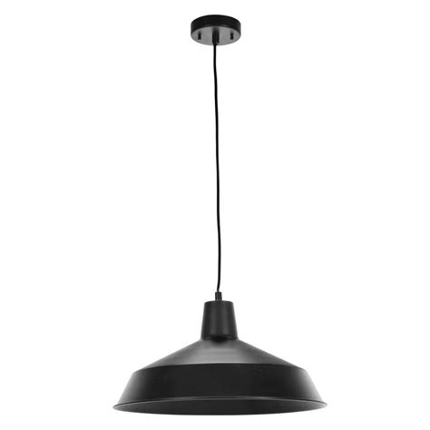 globe electric 1 light matte black barn light pendant