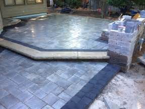 Beautiful patio using Unilock brick pavers. Stonehenge