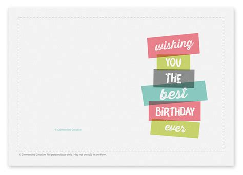 birthday cards templates for him printable birthday card stacked