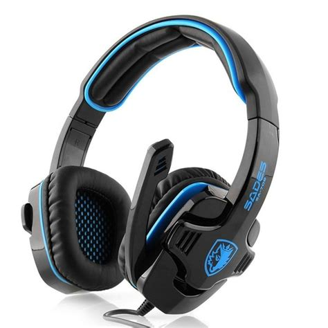 Headset Gaming Sades Sa 708 sades sa 708 gpower gaming headset biru elevenia