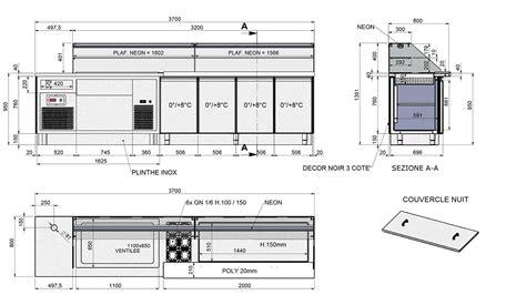 Plan Comptoir by Agencement Restauration Rapide Sur Mesure Bagel