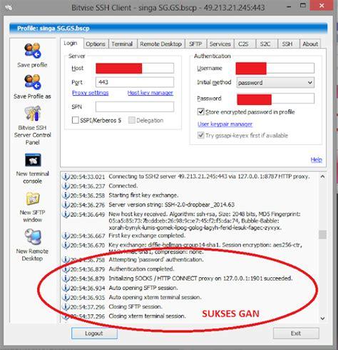 tutorial internet gratis menggunakan bitvise tutorial lengkap internet gratis ssh panduan pemula 217
