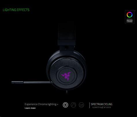 Razer Kraken 7 1 V2 Chroma razer kraken 7 1 chroma v2 usb gaming headset mercury white