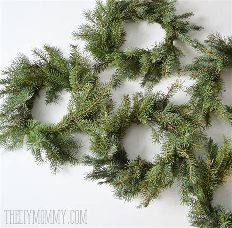 how to make a real tree make real evergreen wreaths the diy
