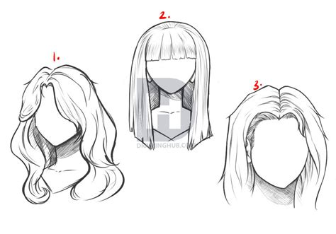 hairstyles for long hair drawing how to draw long hair step by step hair people free