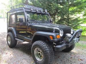 buy used black 2001 4x4 jeep wrangler 4 inch lift only
