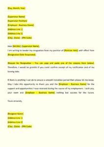 esi cancellation letter format sle resignation letter indiafilings document center