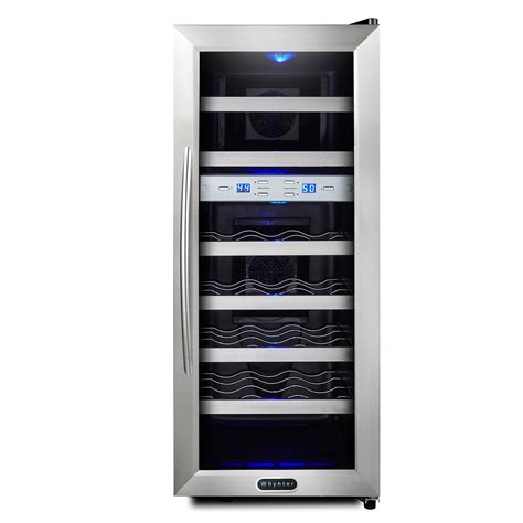 dual zone wine cooler temperature settings stainless steel refrigerator kmart