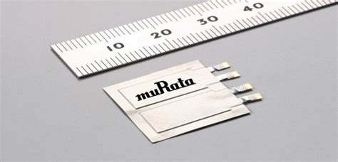 murata supercapacitor murata ultra slim supercapacitor for wearable applications