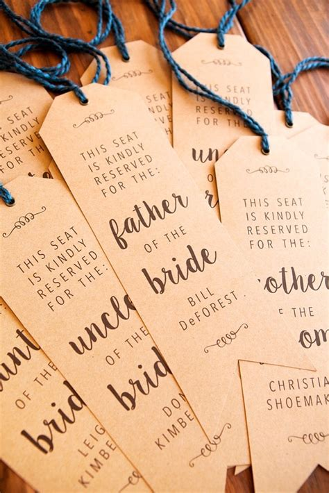 reservedseating card template ceremony make your own wedding ceremony chair quot reserved quot signs