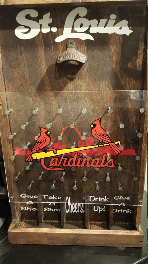 cardinals drinko plinko bottle opener game