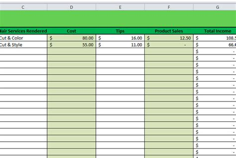 Provide A Business Daily Income Spreadsheet Report Fiverr Daily Income Template