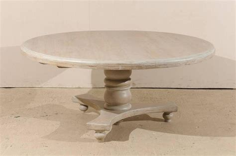 Teak Pedestal Dining Table Teak Wood Dining Table With Central Pedestal And