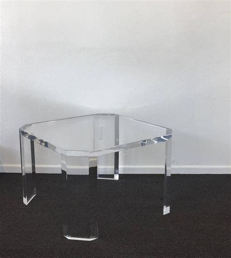Acrylic Table L Pair Of Acrylic Quot L Ami Quot Side Tables By Charles Hollis Jones For Sale At 1stdibs