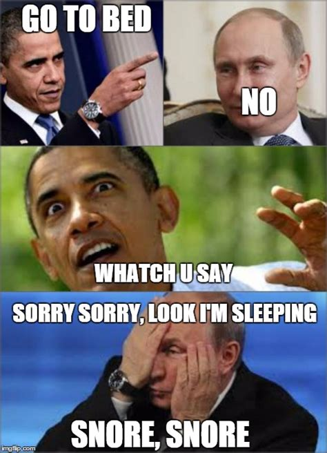 Obama Putin Meme - obama v putin imgflip