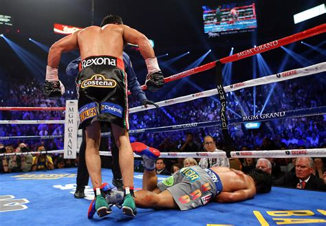 knock out manny pacquiao taken to hospital after juan manuel
