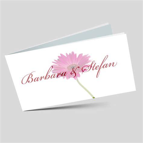 Einladung Hochzeit Pink by Einladungskarte Hochzeit Eine Gerbera In Pink