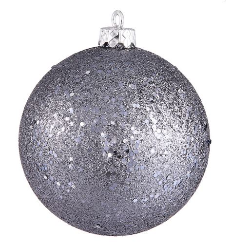 6 quot shatterproof holographic glitter christmas ball