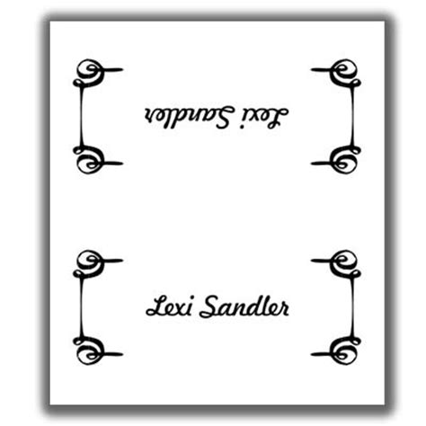sided place card template place card template 3