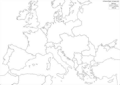 map of europe post world war 1 blank map