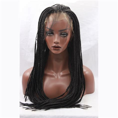 micro braided wigs for black women synthetic lace front micro braided wigs for black women