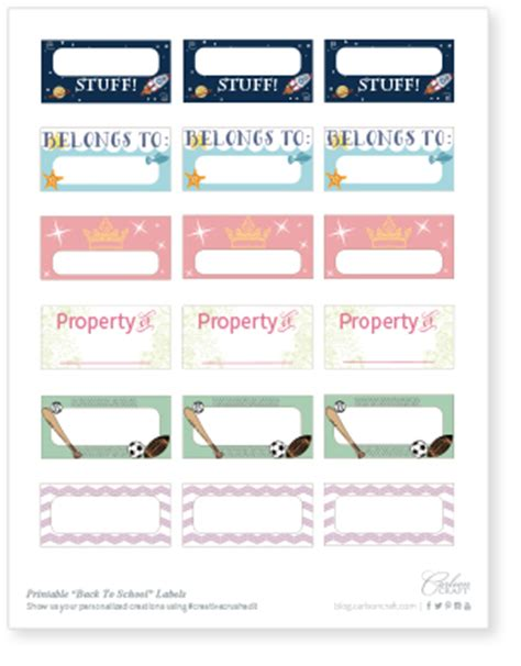 You'll crush on: free printable back to school labels   Crafted for you.?