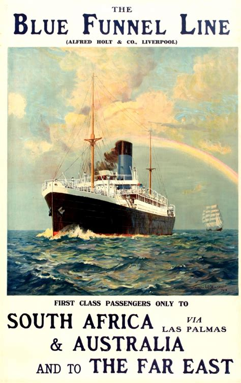 trade and travel in the far east or recollections of twenty one years in java singapore australia and china classic reprint books original vintage posters gt travel posters gt blue funnel